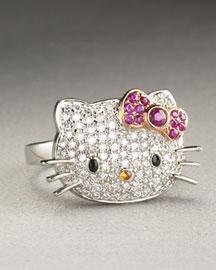 Hello Kitty Diamond Hello Kitty Ring- Jewelry- Neiman Marcus from neimanmarcus.com