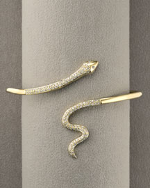 Sydney Evan Pave Snake Cuff -  Bracelets -  Neiman Marcus :  fashion accessory design fashion accessories designer