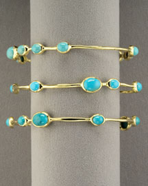 Ippolita Nine-Station Turquoise Bangle -  Bracelets -  Neiman Marcus :  fashion accessory bracelets bangles design