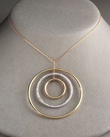 Faraone Mennella            Concentric Circles Diamond Necklace -   Neiman Marcus
