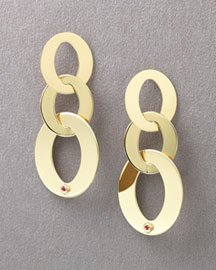 Roberto Coin Gold Link Earrings, Large -  Gold -  Neiman Marcus :  roberto coin gold earrings jewelry