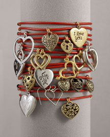 Lucky Charm Bracelets, Red-  Neiman Marcus