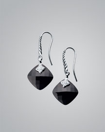 David Yurman Black Onyx Cushion Capri Earrings -  Earrings -  Neiman Marcus