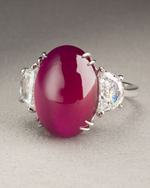 Fantasia by DeSerio            Ruby Cabochon Ring -   		Berry Colors - 	Neiman Marcus