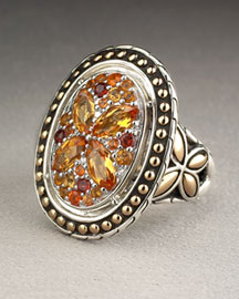 John Hardy Citrine Oval Ring -  Neiman Marcus