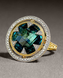 JudeFrances Jewelry Round Topaz Ring -  Jewelry -  Neiman Marcus