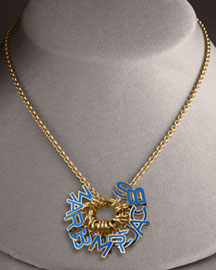 Marc By Marc Jacobs Cluster-Charm Pendant Necklace, Blue- Trend- Neiman Marcus