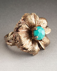 Stephen Dweck Floral Ring -  Accessories -  Neiman Marcus :  flower jewelry designers bronze jewellry