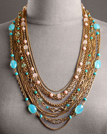 strand beaded necklace best turquoise santa style i fe images jewelry multi like on pinterest mitzimum necklaces