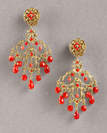 Jose & Maria Barrera Crystal & Agate Chandelier Earrings -  Earrings -  Neiman Marcus from neimanmarcus.com