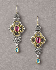 Konstantino Tourmaline & Topaz Earrings -  Earrings -  Neiman Marcus :  fashion accessory fashion accessories designer jewelry
