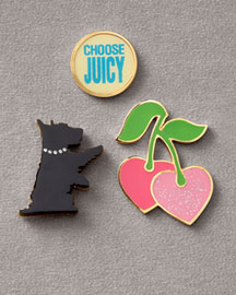 Juicy Couture            Pin Set, Three Pieces -   		Accessories - 	Neiman Marcus :  rhinestone-studded collar embellishment choose juicy