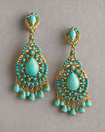 Jose & Maria Barrera Chandelier Earrings -  Earrings -  Neiman Marcus