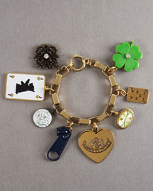 Juicy Couture            Luck-of-the-Draw Charm Bracelet -   		New Arrivals - 	Neiman Marcus :  rhinestone accents clasp charm bracelet imported