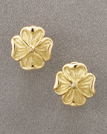 Slane & Slane Dogwood Stud Earrings -  Slane & Slane -  Neiman Marcus :  jewelry earrings studs slane and slane