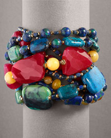 Jose & Maria Multi-Strand Bracelet :  big bracelet jose and maria barrera jose maria gem stones