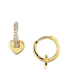 Juicy Couture            Heart Huggie Earrings -   		New Arrivals - 	Neiman Marcus