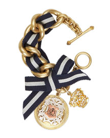 Juicy Couture            Admiral's Daughter Bracelet -   		New Arrivals - 	Neiman Marcus :  admirals daughter grosgrain crown gold plated