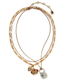 Juicy Couture            Admiral's Daughter Layered Necklace -   		New Arrivals - 	Neiman Marcus :  clustered-link chain gold plated adjustable gold