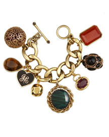 Juicy Couture            La Dolce Vita Charm Bracelet -   		New Arrivals - 	Neiman Marcus :  tigers eye teardrop clasp charm bracelet toggle clasp
