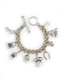 Juicy Couture            Sterling Silver Icon Charm Bracelet -   		New Arrivals - 	Neiman Marcus :  perfume bottle bracelet signature clasp