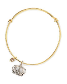 Juicy Couture            Crown Wish Bangle -   		New Arrivals - 	Neiman Marcus :  yellow gold plate juicy couture crown charm rhodium-plated
