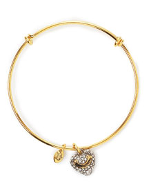 Juicy Couture            Pave Heart Wish Bangle -   		New Arrivals - 	Neiman Marcus :  yellow gold plate yellow gold wish crown