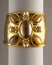 Tiger's Eye Cuff Bracelet -  Bracelets -  Neiman Marcus :  fashion accessory design fashion accessories designer