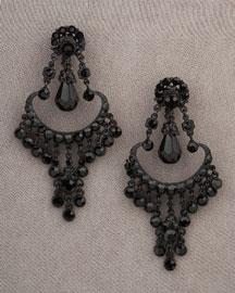Jose & Maria Barrera Black Lantern Earrings -  New Arrivals -  Neiman Marcus