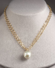 Majorica Pearl Pendant Necklace