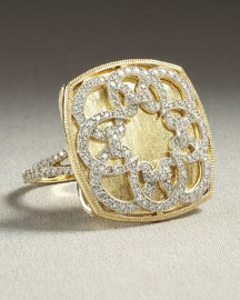 Cipriani Cushion Ring -  Neiman Marcus :  diamonds diamond jewelry yellow