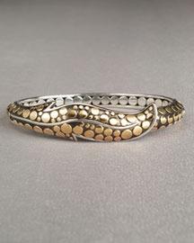 John Hardy            Ayu Gold & Silver Leaf Cuff-  Dot Gold & Silver-Neiman Marcus