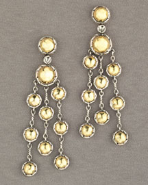 John Hardy Palu Hammered Gold & Silver Earrings