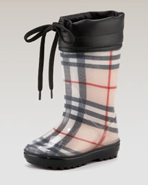 Burberry Check Rain Boot -  Burberry -  Neiman Marcus :  burberry check pattern neiman marcus baby shoes