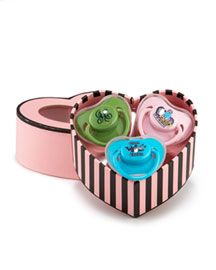 Juicy Couture            Girl's Logo Binkies, Set of Three -   		Baby - 	Neiman Marcus :  binkies heart-shaped infant crown