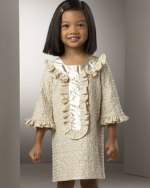 HALABALOO Ruffle Dress -  Girls -  Neiman Marcus :  ruffles clothing kids dress