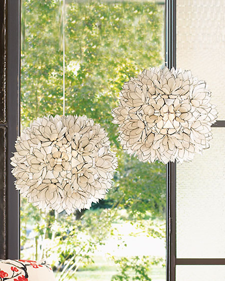 Lotus Flower Chandeliers -  Chandeliers & Fixtures -  Neiman Marcus :  lamp light hanging lamp home decor