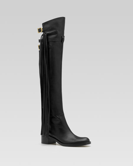 Gucci Devendra Over the Knee Boots w Fringes from neimanmarcus.com