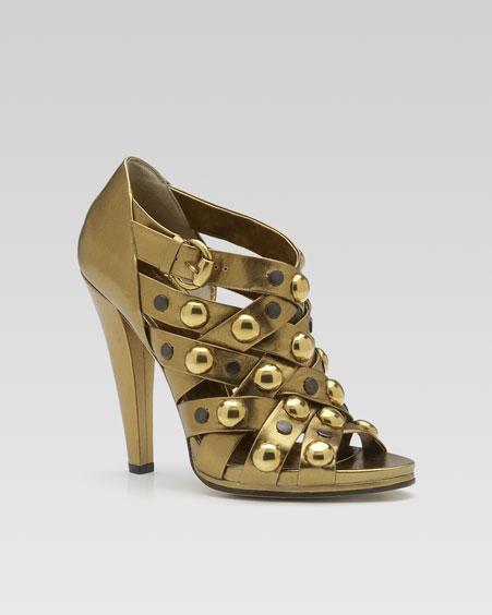 Gucci Babouska Studded Sandal :  sandal studded gucci gold