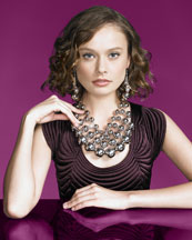 Judi Cascading Necklace & Ball Earrings -  Neiman Marcus