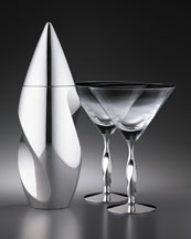 """Twist"" Cocktail Shaker & Martini Glass -  Neiman Marcus from neimanmarcus.com"