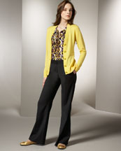 -26NT Tory Burch Simone Cardigan & Shelbee Pants