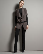 -26PX Vince Draped Cardigan & Yoga Pants