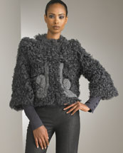 Shearling Jacket & Wide-Cuff Pants -  Neiman Marcus :  jacket pringle of scotland italy grey
