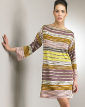 Striped Dress -  Neiman Marcus :  striped italy dress yellow
