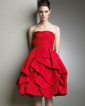 Cocktail Dress -  Neiman Marcus :  petaled made in italy ruffled a line skirt