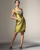 Lela Rose Faux-Wrap Dress