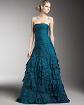 Carmen Marc Valvo Couture Tiered Gown
