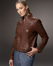 Bagatelle Leather Plus size jacket