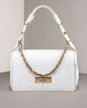 Ostrich Shoulder Bag, Small -  Neiman Marcus :  handbag italy escada bag